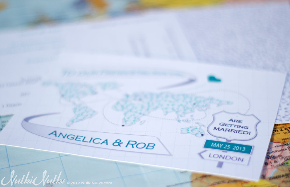 Destination Wedding Invitation - Modern