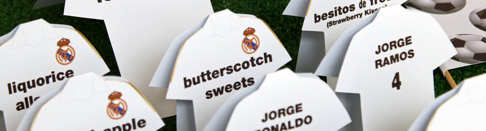 Real Madrid Football Themed Candy Bar