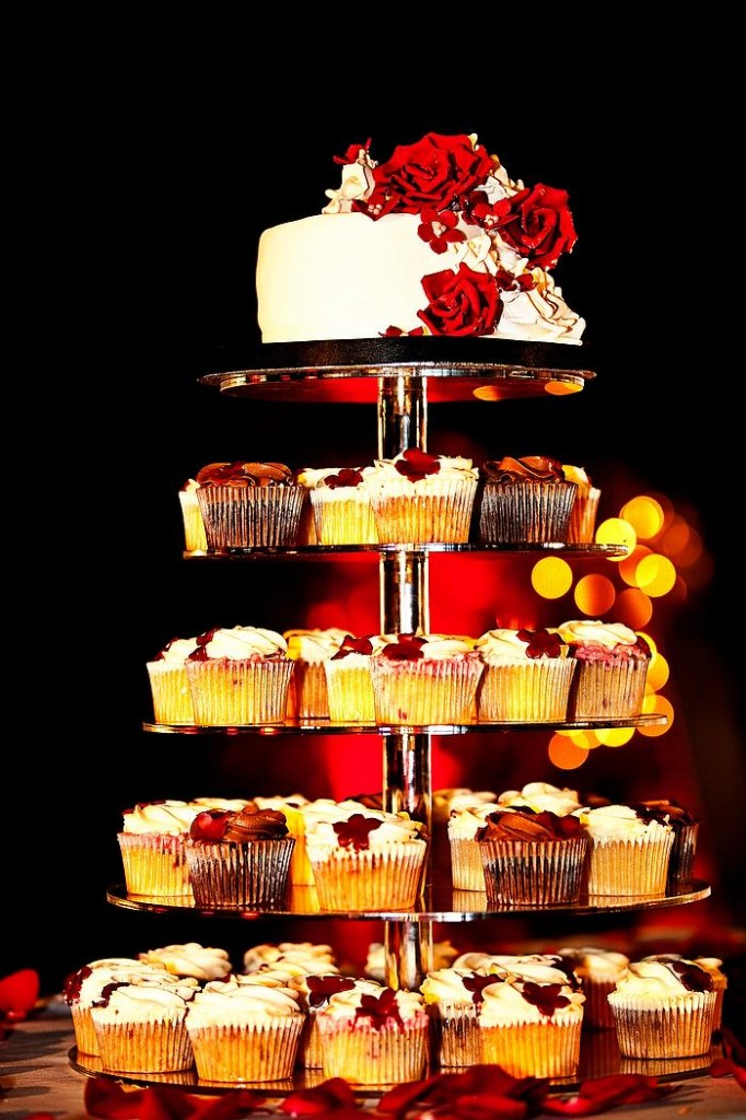 Cupcake tower with cake topper