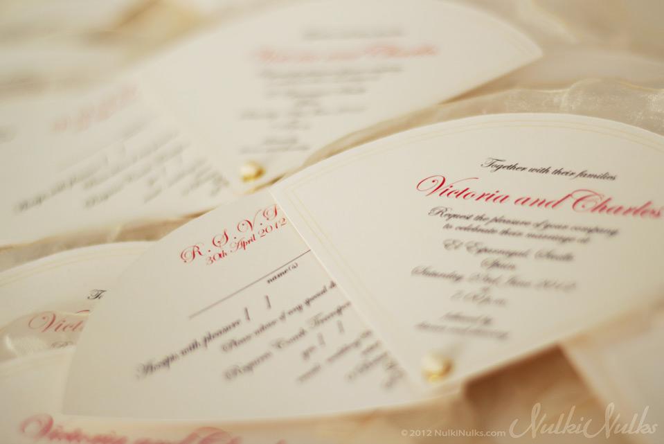 Fan Shaped Wedding Invitation