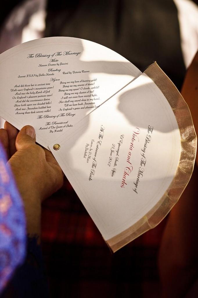 Order of Service Wedding Fan