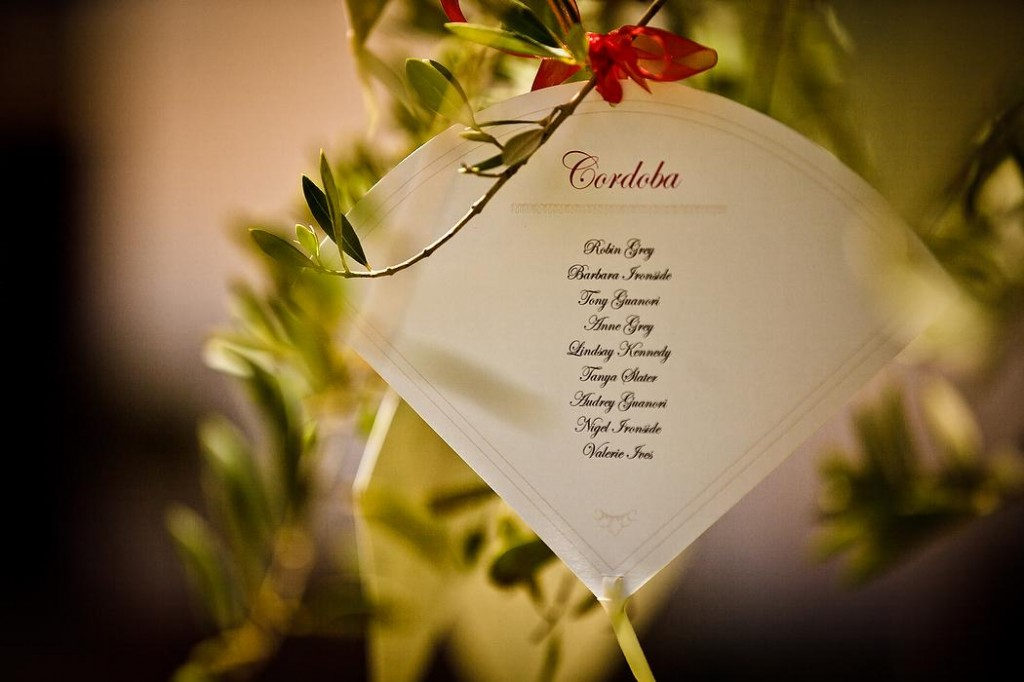 Wedding Fan Individual Table Plan
