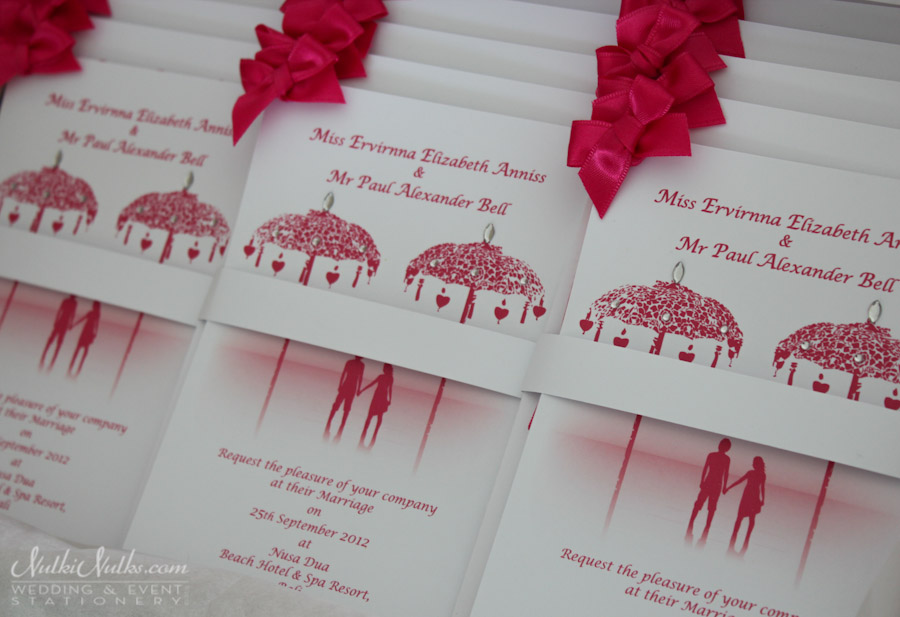 Pink Bali Couple invitations