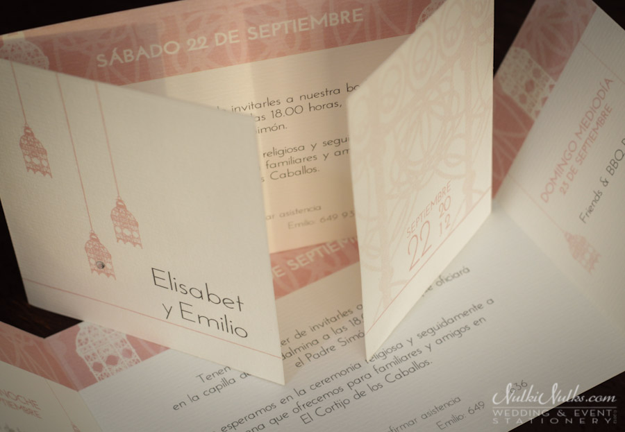 Gate-fold Wedding Invitation