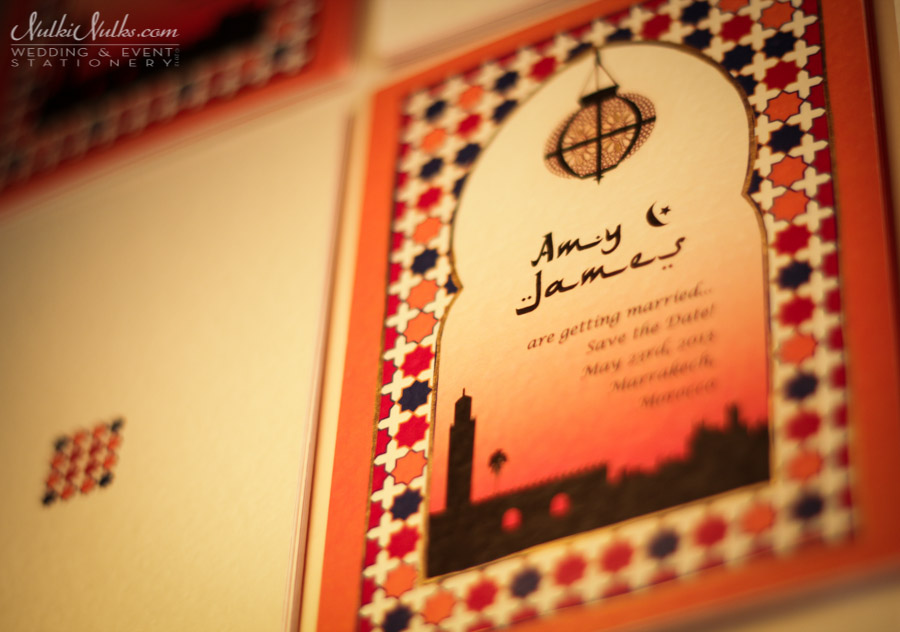 Moroccan Save the Date Wedding Card