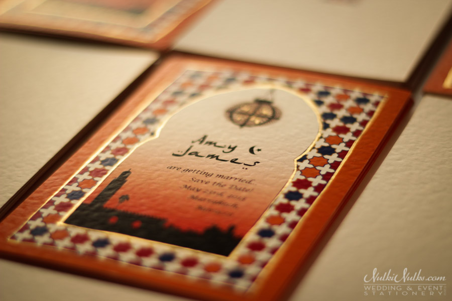 Moroccan Save the Date Invitation