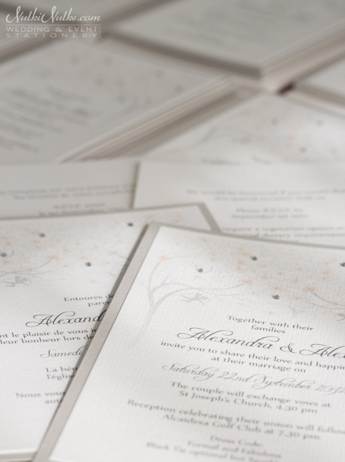 Wedding Invitation close-up