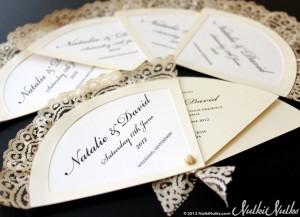 Wedding Fan Invitation