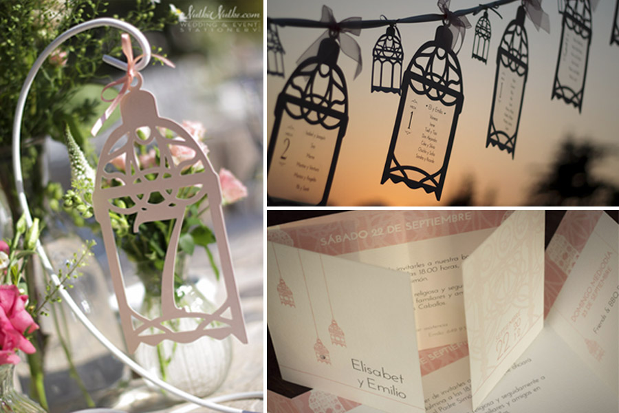 Moroccan lantern inspired event stationery