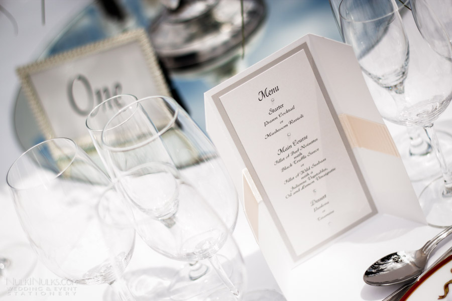 Wedding Menu on table