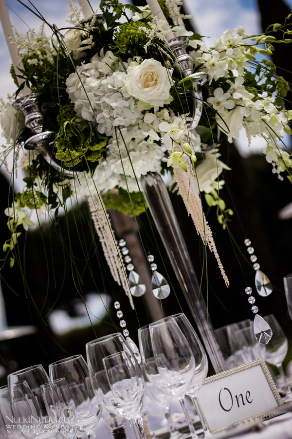 Wedding Tablescape with candelabra centerpieces
