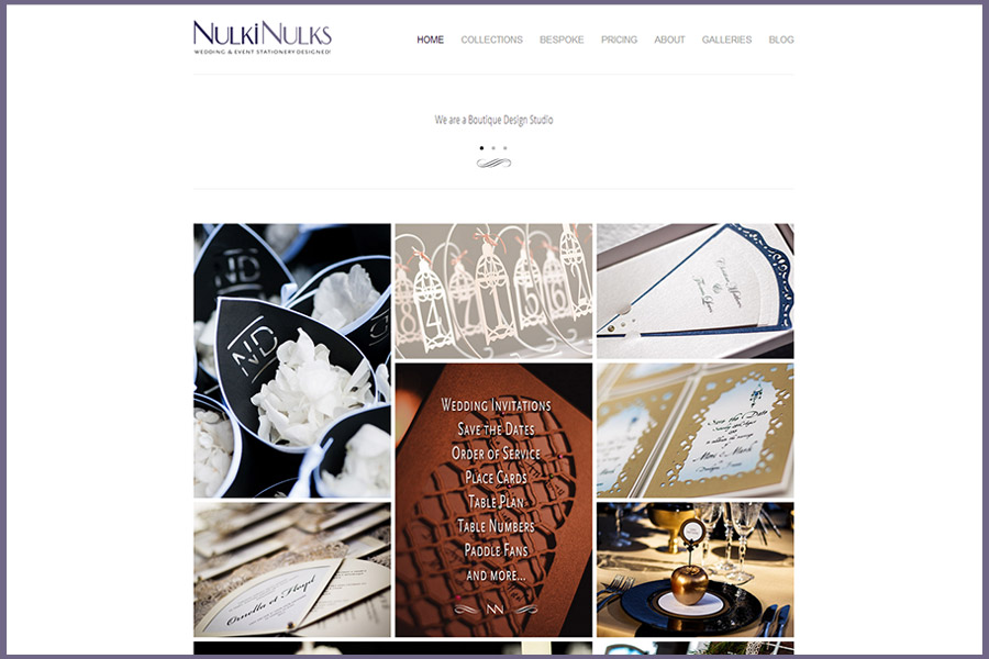 New Look Wedding & Event Stationery Website