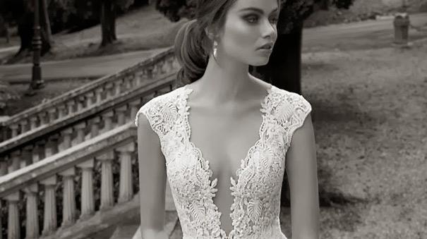 Model wearing a beautiful Wedding Dress