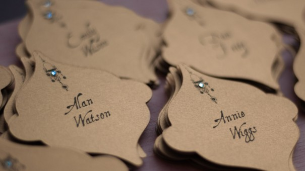 Gold Moroccan Place Cards