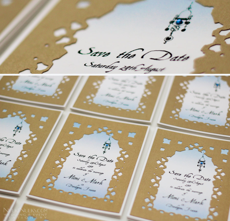 Moroccan design Save the Date Cards