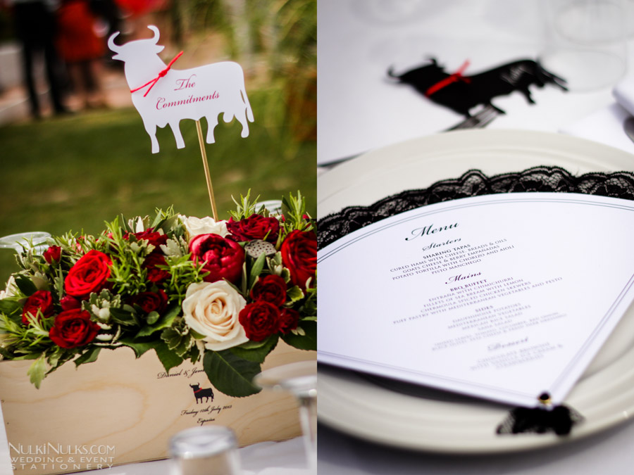 Flamenco inspired wedding table
