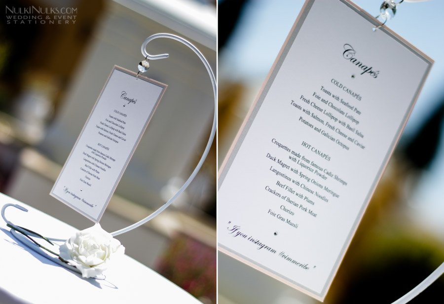 Hanging Canape Menu
