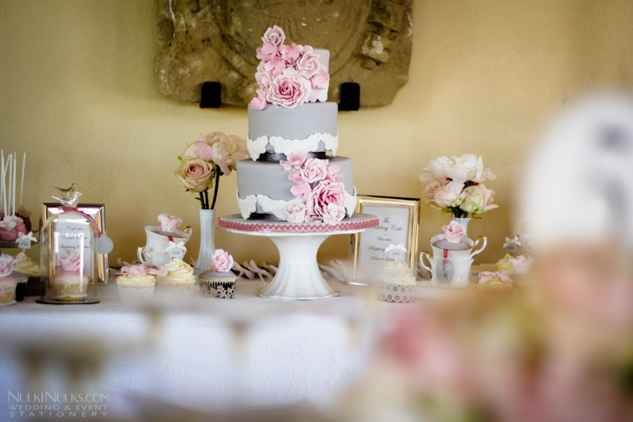 Dessert Table with wedding cake