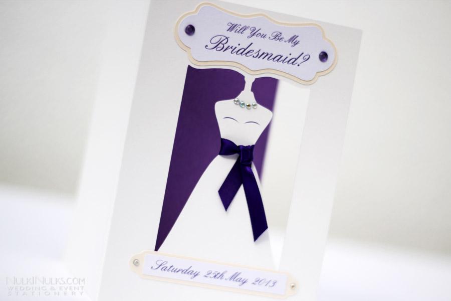 unique handmade bridesmaid invitations maid bespoke design creative invitations and stationery by nulki nulks,Unique Bridesmaid Invitations