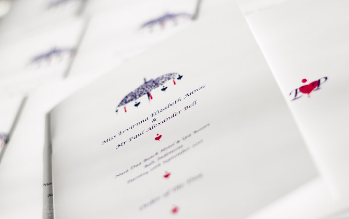 Wedding Order of the Day Booklet
