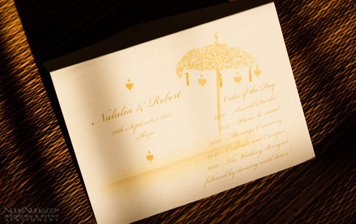Wedding Order of the Day Envelope