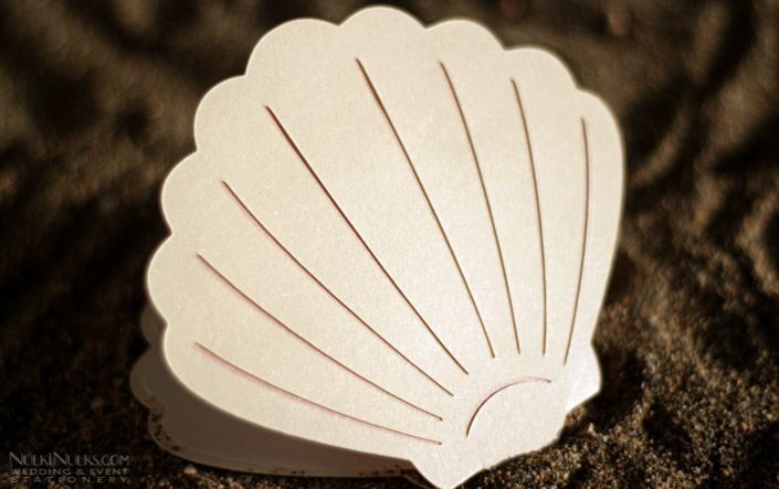 Shell-shaped Wedding Invitation - Front