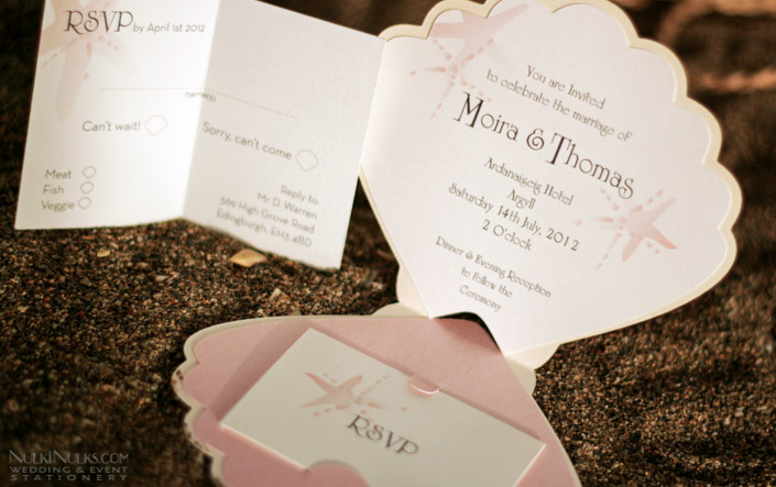 Shell-shaped Wedding Invitation - Inside