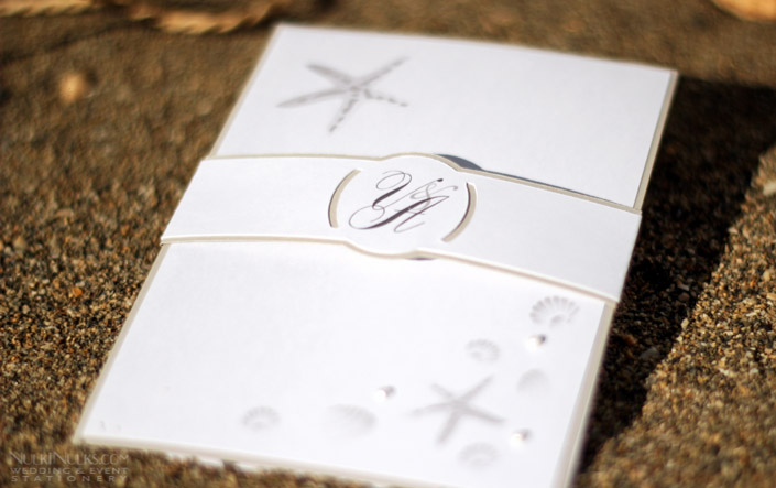 Beach Themed Wedding Invitations Uk: Coastal Finds Collection