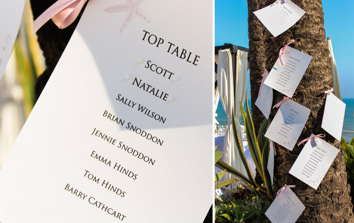 Beach Wedding Theme - Table Plan