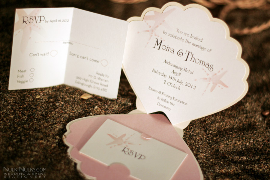Beach Themed Wedding Invitations Templates: Coastal Finds Collection