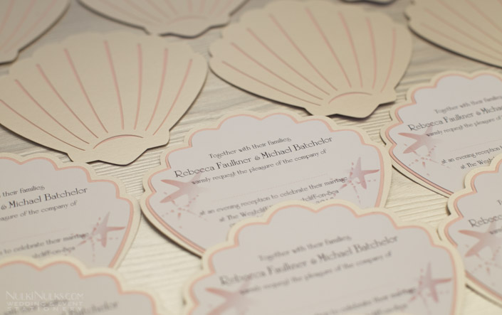Shell-shaped Wedding Evening Invitation