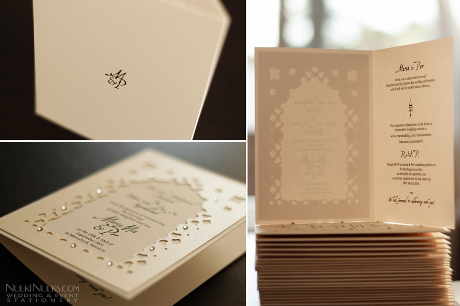 Exclusive moroccan theme collection wedding invitations and save folded moroccan wedding invitation stopboris Images