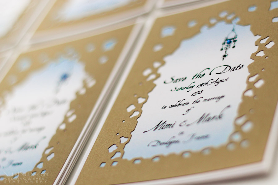 Cut Out And Layered Moroccan Style Wedding Save The Date