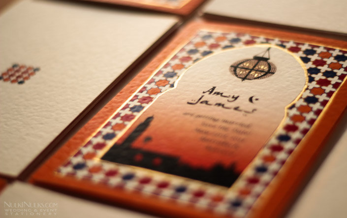 Printed Moroccan-style Wedding Save the Date
