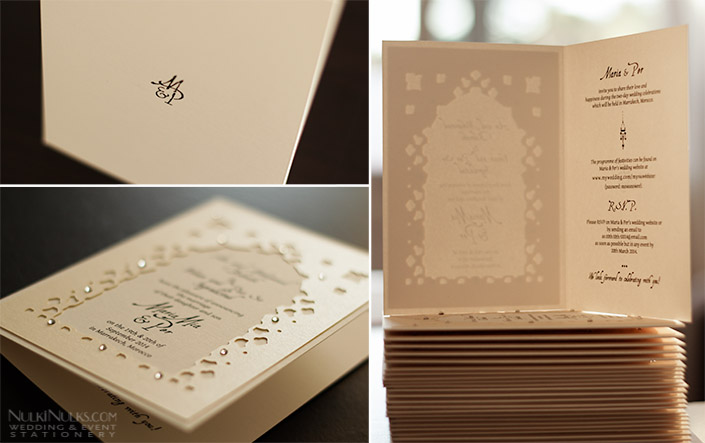 Folded Moroccan Wedding Invitation