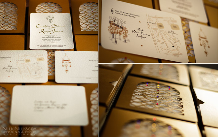 Moroccan Wedding Invitation Suite with Information and Map