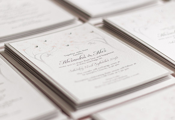 Spring and Summer Theme Wedding Invitations