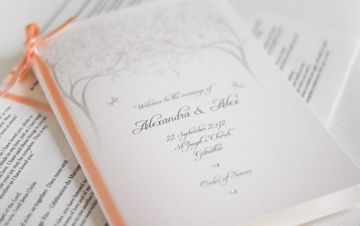 Spring and Summer Weddings - Order of Service Booklet
