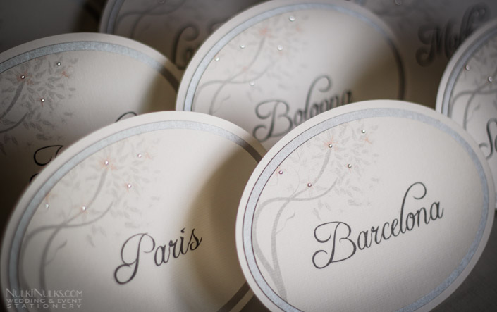 Spring and Summer Weddings - Table Names