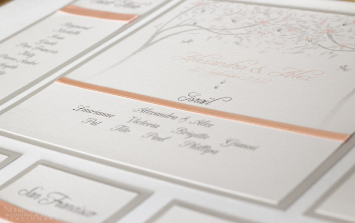 Spring and Summer Weddings - Table Plan with Ribbon