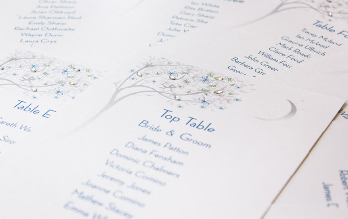 Spring and Summer Weddings - Table Plan