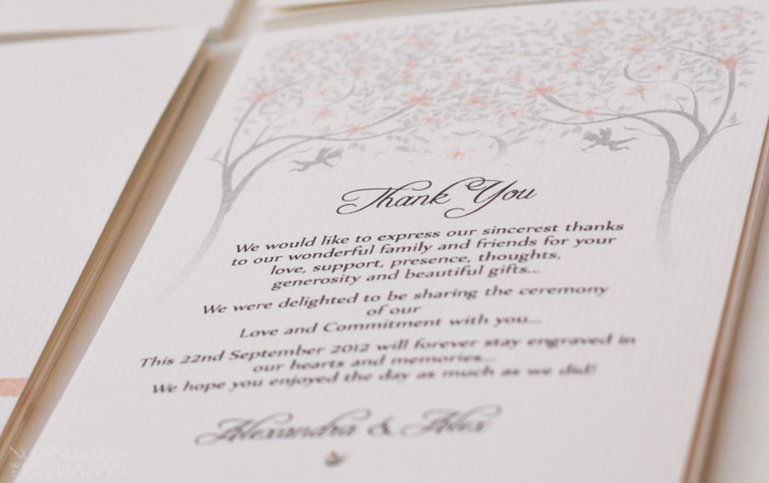 Spring and Summer Weddings - Thank you Cards