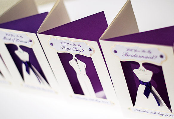 3D Bridesmaids Wedding Invitations