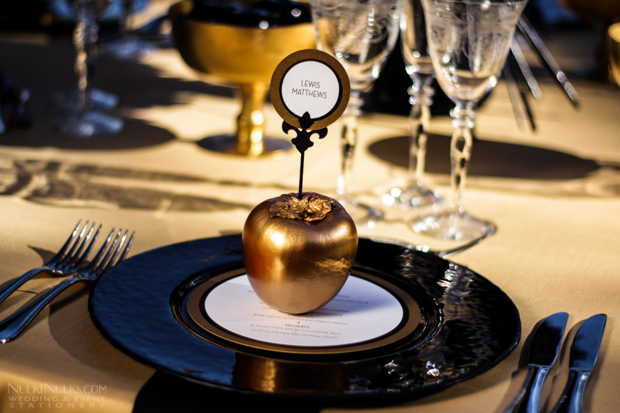 Unusual Party Menu And Place Card