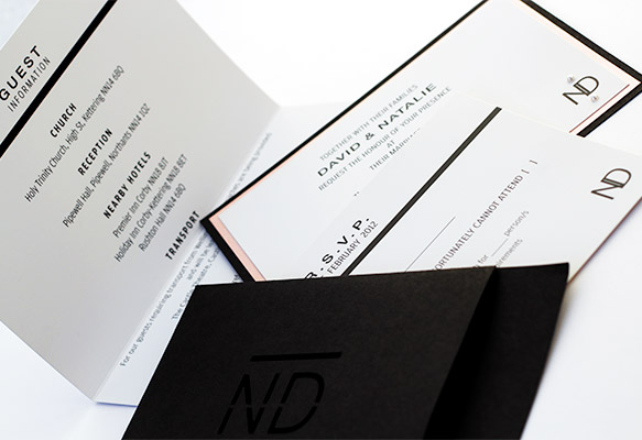 Elegant and Bespoke Wedding Invitation Suite