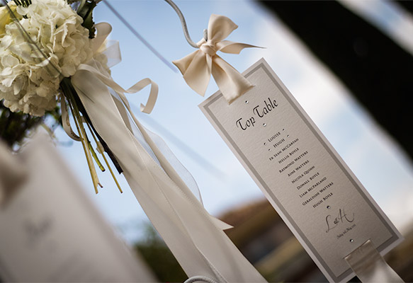 Elegant Wedding Hanging Table Plan