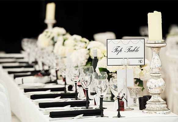 Modern Wedding Table Name