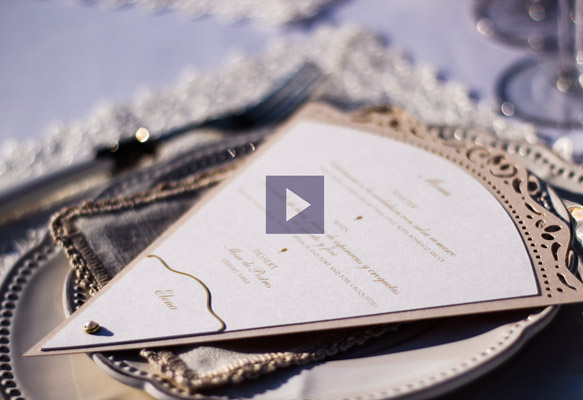 Wedding stationery showcase video