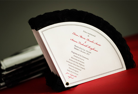 Flamenco-themed Wedding Program