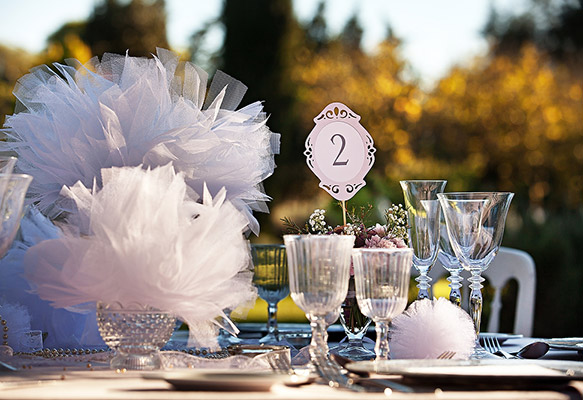 Stylish Wedding Table Number